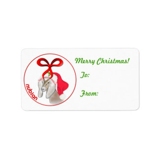 Nubian Goat Christmas Gift Tag Sticker
