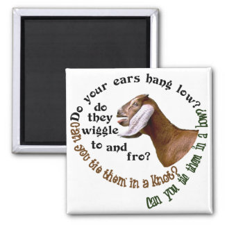 NUBIAN GOAT - DO YOUR EARS HANG LOW? 2 INCH SQUARE MAGNET