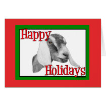 Nubian Goat Holiday Christmas Card