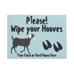 Nubian Goat Wipe Your Hooves Choose Color Doormat at Zazzle