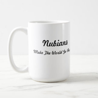 Nubian Head in Heart Coffee Mug