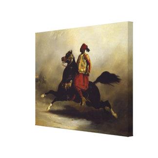 Nubian Horseman at the Gallop Canvas Print