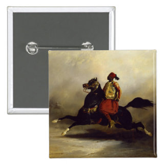 Nubian Horseman at the Gallop Pinback Button