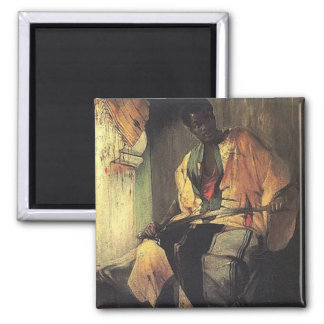 Nubian man 2 inch square magnet