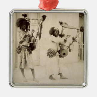 Nubian Musicians (sepia photo) Metal Ornament