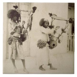 Nubian Musicians (sepia photo) Ceramic Tiles