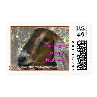 Nubian Nanny Goat Postage Stamp- personalize
