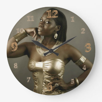 Nubian Queen of Ancient Egypt Large Clock