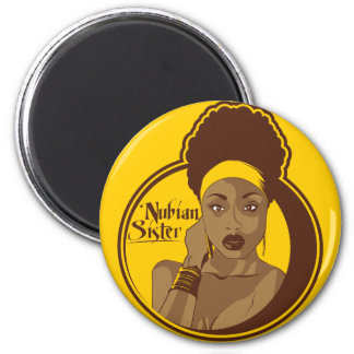 Nubian Sister 2 Inch Round Magnet