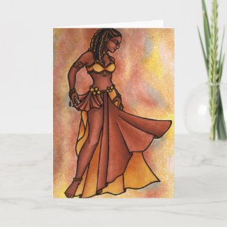 Nubian Sister Belly Dancer Card