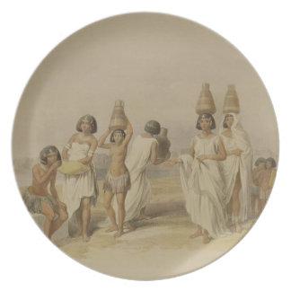 """Nubian Women at Kortie on the Nile, from """"Egypt an Dinner Plate"""