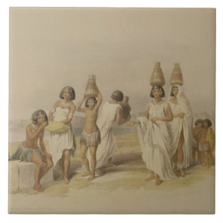 """Nubian Women at Kortie on the Nile, from """"Egypt an Tile"""