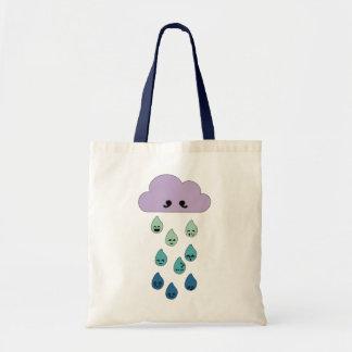 Nublado con una ocasión de la lluvia bolsa de mano