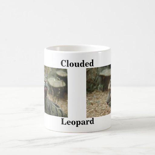 Nublado, leopardo taza