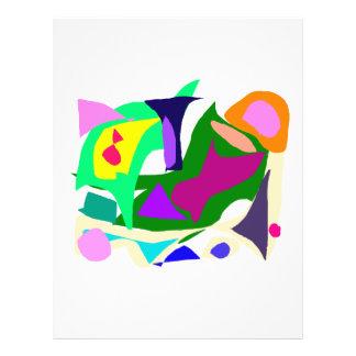 """Nublado muchos pensamientos de los colores que sal folleto 8.5"""" x 11"""""""