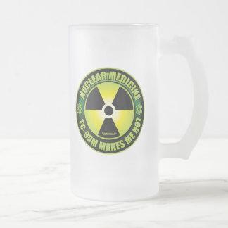 Nuc Med Tech Frosted Glass Beer Mug