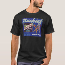 Nuchief Apples - Vintage Fruit Crate Label T-Shirt