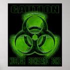 Nuclear Biohazard Caution Sign