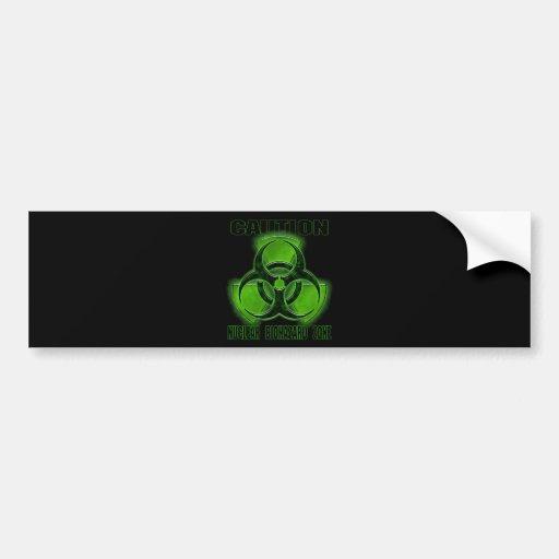 Nuclear Biohazard Caution Sign Car Bumper Sticker