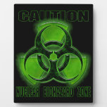Nuclear Biohazard Caution Sign Display Plaque