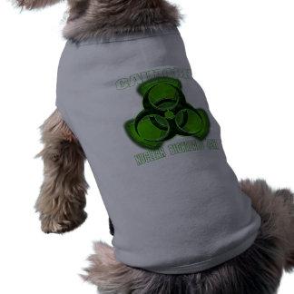Nuclear Biohazard Caution Sign Dog T Shirt