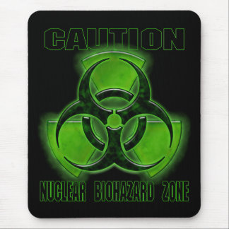 Nuclear Biohazard Caution Sign Mouse Pad