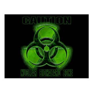 Nuclear Biohazard Caution Sign Postcard