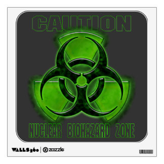 Nuclear Biohazard Caution Sign Wall Decal