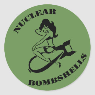Nuclear Bombshells Support Display Device Classic Round Sticker