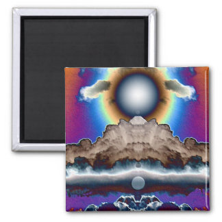 Nuclear Cloud 2 Inch Square Magnet