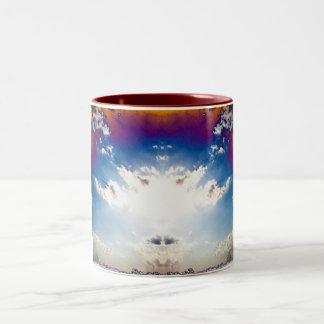 Nuclear cloud Two-Tone coffee mug