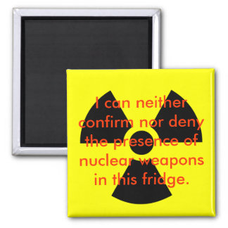 Nuclear Denial 2 Inch Square Magnet
