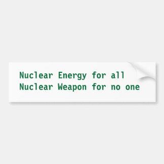Nuclear Energy Bumper Sticker