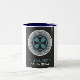 Nuclear Energy Is Clean Energy Two-Tone Coffee Mug