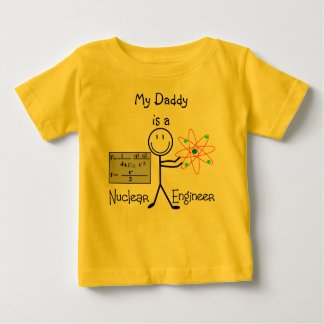 Nuclear Engineer Gifts--Stick People Humor Baby T-Shirt