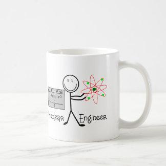 Nuclear Engineer Gifts--Stick People Humor Classic White Coffee Mug