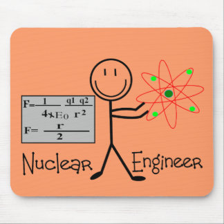 Nuclear Engineer Gifts--Stick People Humor Mouse Pad
