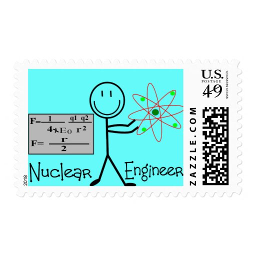 Nuclear Engineer Gifts--Stick People Humor Stamps