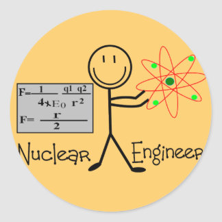 Nuclear Engineer Gifts--Stick People Humor Stickers