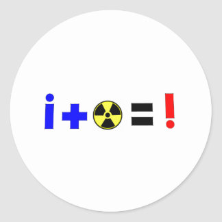 Nuclear Equation Classic Round Sticker
