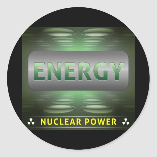 Nuclear es la energía limpia pegatina redonda