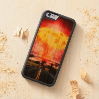 Nuclear Explosion Carved Cherry iPhone 6 Bumper Case
