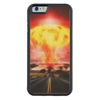 Nuclear Explosion Carved® Maple iPhone 6 Bumper
