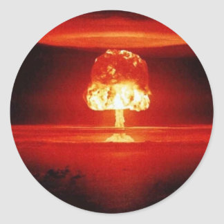 nuclear-explosion classic round sticker