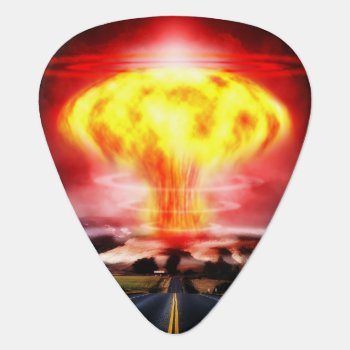 Nuclear Explosion Guitar Pick by StuffOrSomething at Zazzle