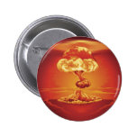 Nuclear explosion mushroom cloud pinback buttons