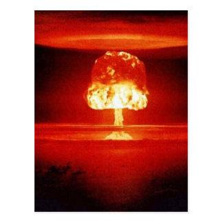 nuclear-explosión tarjeta postal