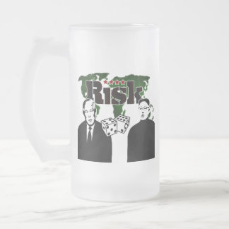 Nuclear Explosion Trump and Kim Jong Frosted Glass Beer Mug