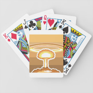 Nuclear Explosion vector Bicycle Playing Cards