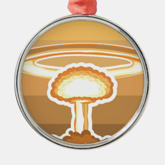 Nuclear Explosion vector Metal Ornament
